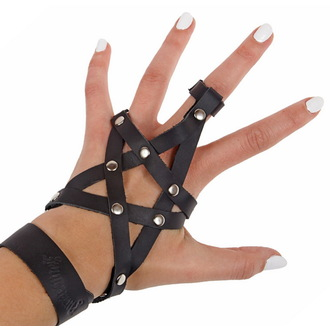 Armband AMENOMEN - Leder - Pentagram - Black, AMENOMEN
