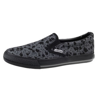 Schuhe VISION - Slip-On - Charcoal / Skulls, VISION
