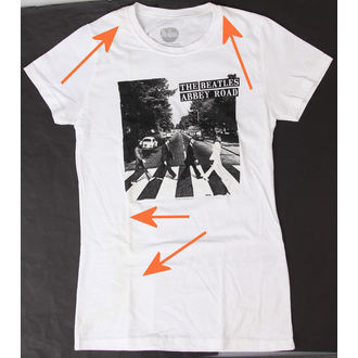 Damen T-Shirt  Beatles - Abbey Road - BRAVADO - BESCHÄDIGT, BRAVADO, Beatles