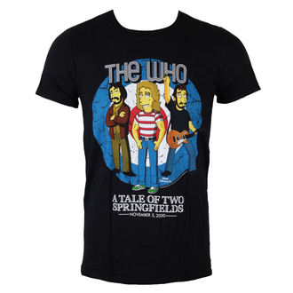 Herren T-Shirt The Simpsons - The Who Bullseye - Black, LIVE NATION, Who