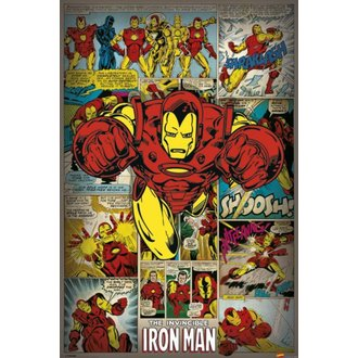 Poster Marvel Comics - Iron Man Retro - PYRAMID POSTERS, PYRAMID POSTERS