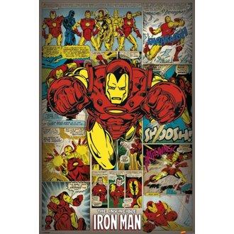 Poster Marvel Comics - Iron Man Retro - PYRAMID POSTERS, PYRAMID POSTERS