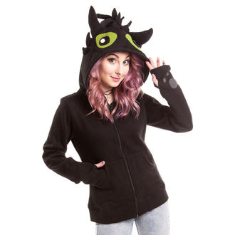 Damen Hoodie POIZEN INDUSTRIES - Black Fury - Black - POI001