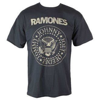 T-Shirt Männer  Ramones - Distress Crest - Char - BRAVADO