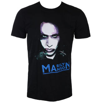 Herren T-Shirt Metal Marilyn Manson - Oversaturated Photo - ROCK OFF, ROCK OFF, Marilyn Manson