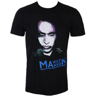 Herren T-Shirt Metal Marilyn Manson - Oversaturated Photo - ROCK OFF, ROCK OFF, Marilyn Manson