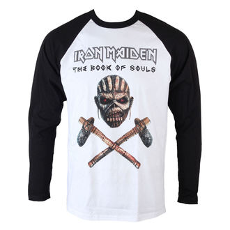 T-Shirt Männer  Iron Maiden - Axe - Raglan Baseball - ROCK OFF - IMRL06MW