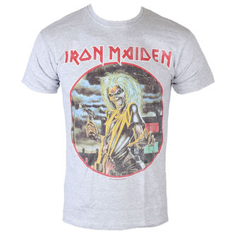 T-Shirt Männer  Iron Maiden - Killers - cirlcle - Heather - ROCK OFF, ROCK OFF, Iron Maiden