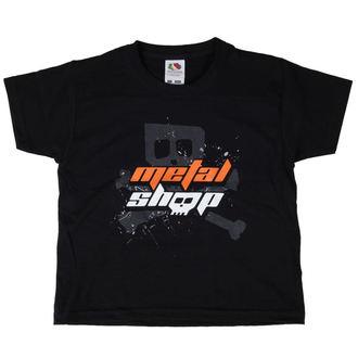 T-Shirt Kinder MetalShop - Black, METALSHOP