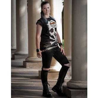 Damen T-Shirt  MetalShop - Black, METALSHOP