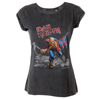Damen T-Shirt Iron Maiden - Trooper - ROCK OFF, ROCK OFF, Iron Maiden