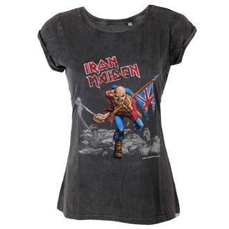 Damen T-Shirt Iron Maiden - Trooper - ROCK OFF, ROCK OFF, Iron Maiden