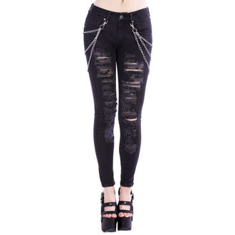 Damen Hose DISTURBIA - Black Metal, DISTURBIA