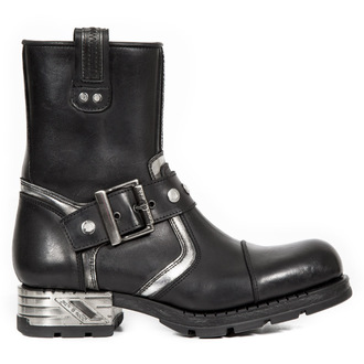 Punk Boots NEW ROCK - Itali Negro - Box Plane - Piel Vivo Negro, NEW ROCK