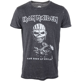 Herren T-Shirt  Iron Maiden - Book Of Souls - Burnout Grey - ROCK OFF, ROCK OFF, Iron Maiden