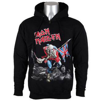 Sweatshirt Men Iron Maiden - Scuffed Trooper - ROCK OFF - IMHOOD06MB