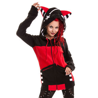 Sweatshirt Ladies POIZEN INDUSTRIES - Star Kitty - Black/Red, BYE BYE KITTY