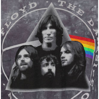 Herren T-Shirt  Pink Floyd - Dark Side Group Tie-Dye - LIQUID BLAU, LIQUID BLUE, Pink Floyd