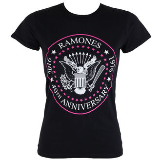 Damen T-Shirt  Ramones - 40th Anniversarry - ROCK OFF, ROCK OFF, Ramones