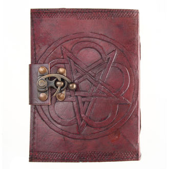 Notizblock Pentagram Leather Embossed Journal & Lock - NENOW, NNM