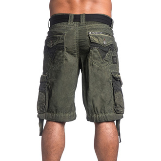 Herren Shorts AFFLICTION - Rusted Template - MG, AFFLICTION