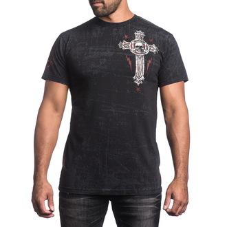 Herren T-Shirt AFFLICTION - Repost - BK, AFFLICTION