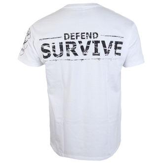 Herren T-Shirt ALISTAR - Zombie Survive - weiß, ALISTAR