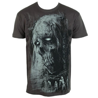 Herren T-Shirt ALISTAR - Zombie Survive - grau, ALISTAR