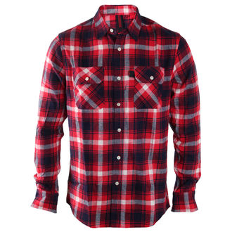 Herren Langarmhemd INDEPENDENT - Faction Red Check, INDEPENDENT