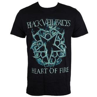 Herren T-Shirt Black Veil Brides - Heart Of Fire - schwarz - LIVE NATION, LIVE NATION, Black Veil Brides