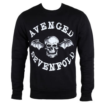 Herren Sweatshirt Avenged Sevenfold - Classic Deathbat - ROCK OFF, ROCK OFF, Avenged Sevenfold