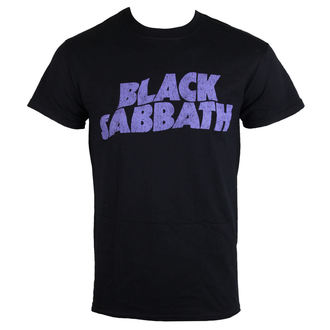 Herren T-Shirt Black Sabbat - Wavy Logo - ROCK OFF, ROCK OFF, Black Sabbath