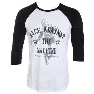 Herren T-Shirt Rage Against The Machine - Battle - weiß / schwarz - ATMOSPHERE, Rage against the machine