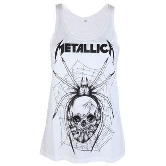 Damen Tanktop Metallica - Web Skull Mono - Weiß - ATMOSPHERE, Metallica