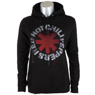 Damen Hoodie Red Hot Chili Peppers - Stencil Asterisk - schwarz - ATMOSPHERE, NNM, Red Hot Chili Peppers