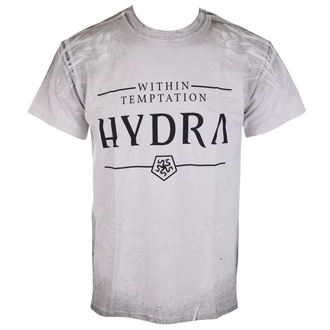 Herren T-Shirt Sin Temptation - Hydra A/O Texture - Ice Grey, Within Temptation