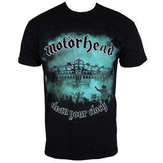 Herren T-Shirt Motörhead - Clean your Clock Green - ROCK OFF - MHEADTEE38MB