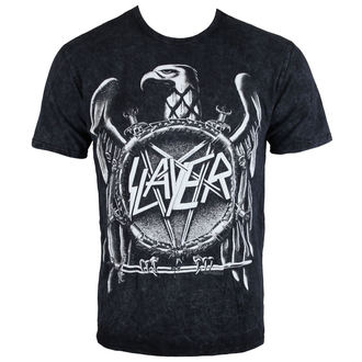 Herren T-Shirt Slayer - Hi Contrast Eagle Puff Print - ROCK OFF, ROCK OFF, Slayer