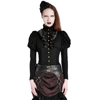 Damen Hemd PUNK RAVE - Queen of hearts - Black, PUNK RAVE