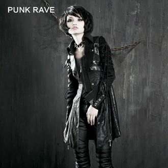 Damen mantel Frühling/Herbst PUNK RAVE - Poisonblack - Y-349_B