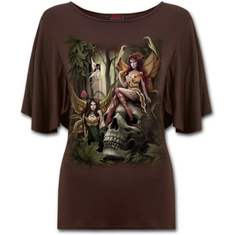 Damen T-Shirt SPIRAL - WOODLAND FAIRY - Chocolate, SPIRAL