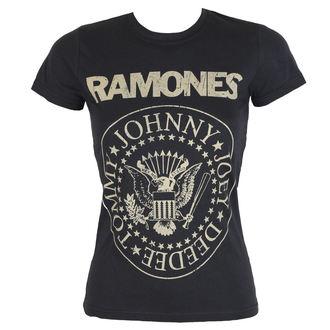 Damen T-Shirt Ramones - DISTRESS CREST - BRAVADO, BRAVADO, Ramones