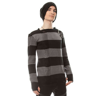 Herren Sweatshirt HEARTLESS - DROP DEAD - SCHWARZ / GRAU, HEARTLESS