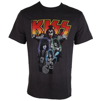 Herren T-Shirt KISS - BAND SHOT - DISTRESSED - AMPLIFIED, AMPLIFIED, Kiss