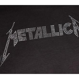 Herren T-Shirt Metallica BLACK LOGO DIAMANTE AMPLIFIED AV210MLS, AMPLIFIED, Metallica