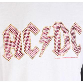 Herren T-Shirt AC-DC CLASSIC LOGO WHITE RED AMPLIFIED AV210ACS, AMPLIFIED, AC-DC