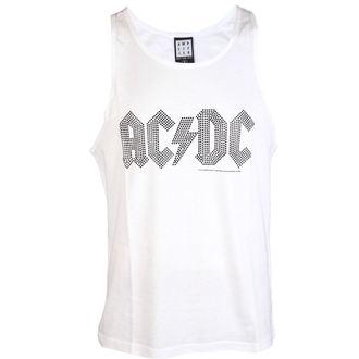 Herren Tanktop AC / DC - BLACK LOGO DIAMONTE WHITE - AMPLIFIED, AMPLIFIED, AC-DC