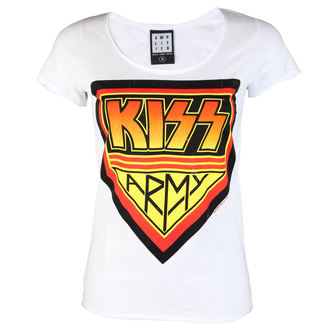 Damen Metal T-Shirt Kiss - DISTRESSED ARMY WHITE - AMPLIFIED, AMPLIFIED, Kiss