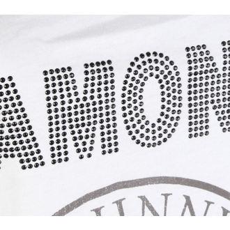 Damen Tanktop RAMONES - LOGO DIAMANTE - WEISS - AMPLIFIED, AMPLIFIED, Ramones