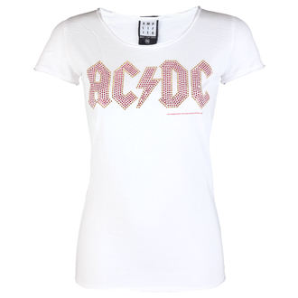 Damen T-Shirt AC-DC LOGO WHITE RED AMPLIFIED AV601ACS